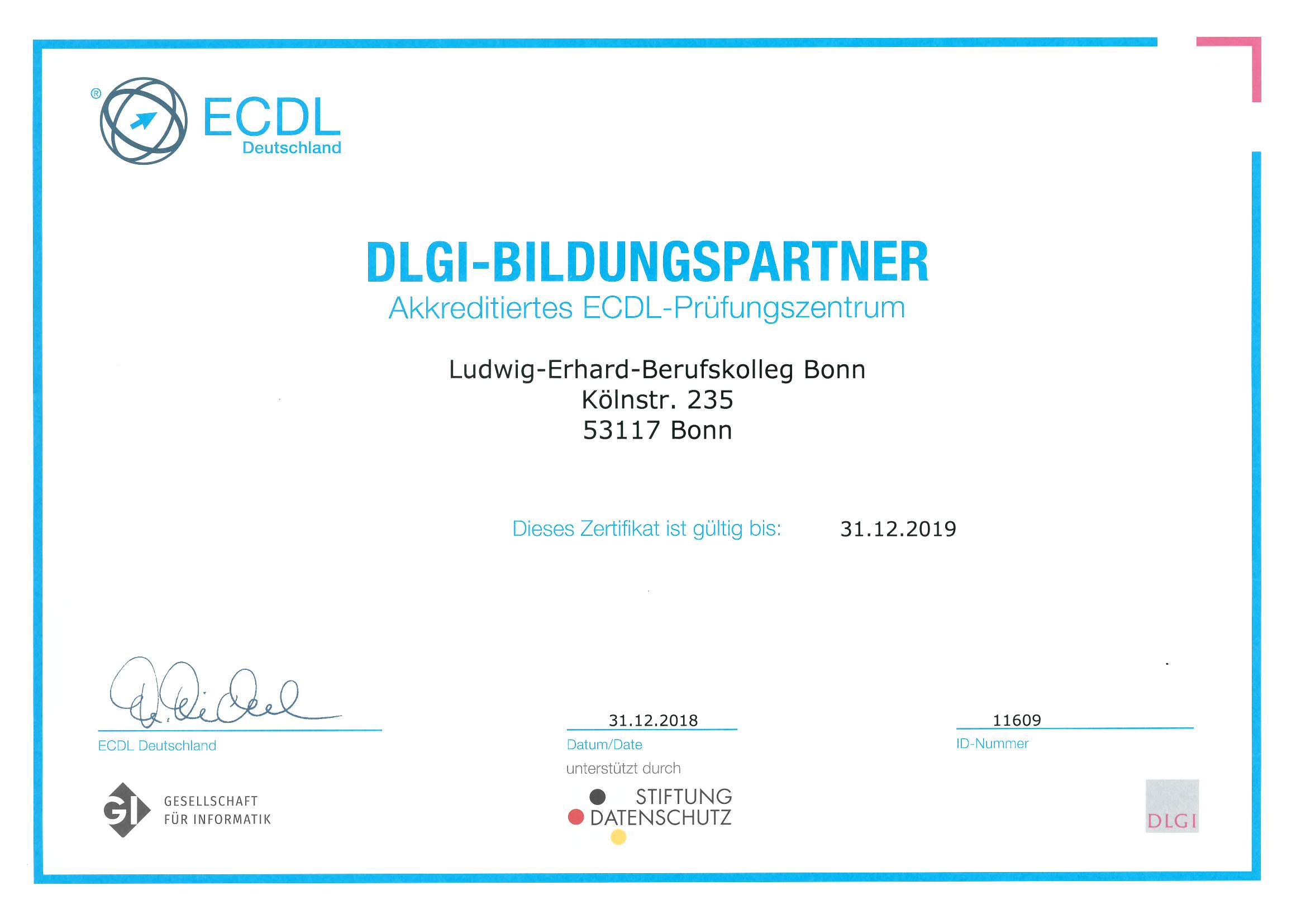 ECDL - Zertifikat