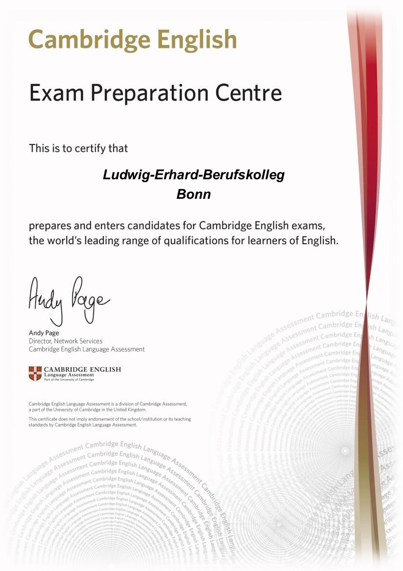 Cambridge Englisch - Zertifikat